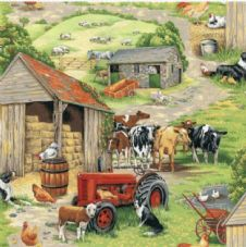Nutex in the country 101 - Farmyard Fabric